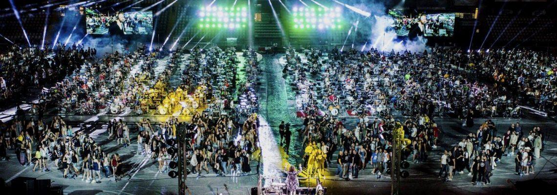 Rockin' 1000 live at Cesena