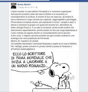 Il post di Eraldo Baldini