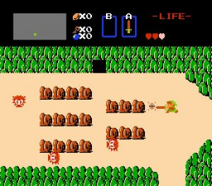 Schermata del gioco The Legend of Zelda per NES (1986)