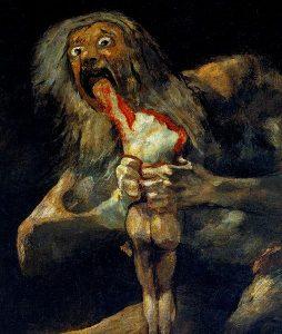 """""""Saturno che divora i suoi figli"""", di Francisco Goya."""