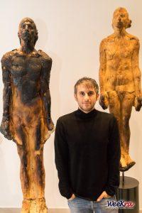 Matteo Lucca e le sue statue di pane. Foto di Roberto Turturro.
